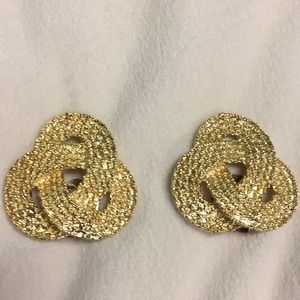 👠VINTAGE GOLD TONE WOVEN LOOK SHOE CLIPS👠